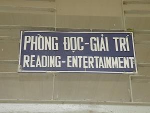 reading sign in vietnam